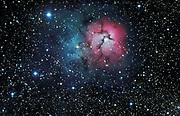 Trifid nebula, M20 and NGC 6514, in constellation Sagittarius.