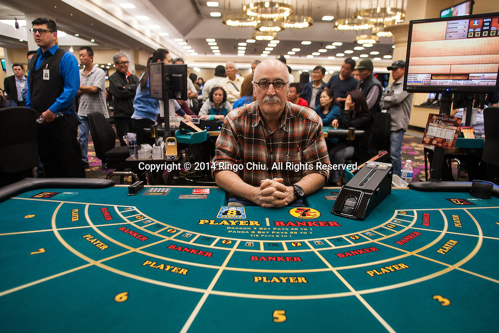 Haig Papaian, CEO of Commerce Casino,  at a no-collection baccarat table in the casino.(Photo by Ringo Chiu/PHOTOFORMULA.com)
