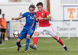 RHYL, WALES - Saturday, September 2, 2017: Wales' Mitchell Clark in action during an Under-19 international friendly match between Wales and Iceland at Belle Vue. (Pic by Gavin Trafford/Propaganda)
