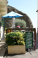 Outdoor Cafe tables in Roquebrune Village South of France