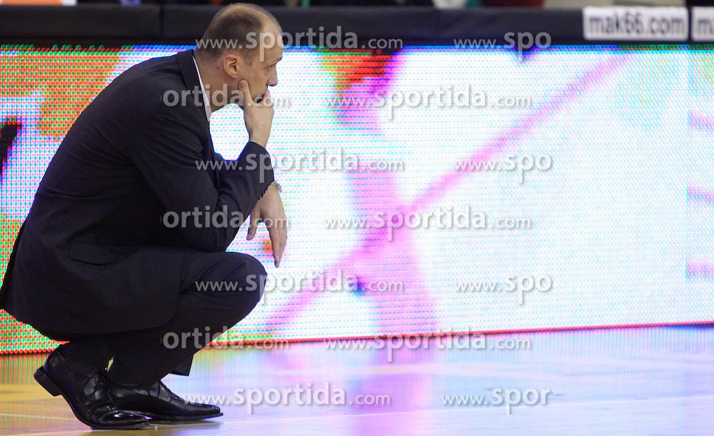 Coach of Olimpija Jure Zdovc at Euroleague basketball game in Round 9 of Group C between KK Union Olimpija, Ljubljana and Fenerbahce Ulker, Istanbul, on January 8, 2009, in Arena Tivoli, Ljubljana, Slovenia. Fenerbahce won 90:70. (Photo by Vid Ponikvar / SportIda).