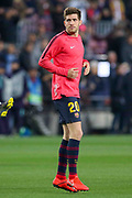 Barcelona midfielder Sergi Roberto (20) warm up during the Champions League quarter-final leg 2 of 2 match between Barcelona and Manchester United at Camp Nou, Barcelona, Spain on 16 April 2019.