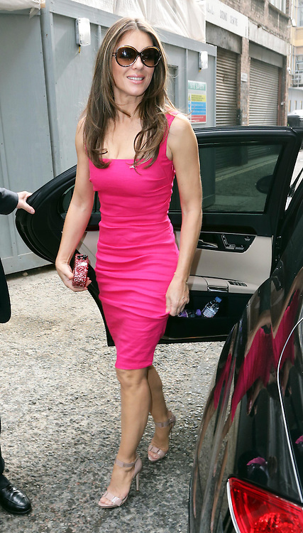 Elizabeth Hurley arriving a an Estee Lauder  breast cancer awareness  event in London, Wednesday, 25th September 2013. Picture by Stephen Lock / i-Images