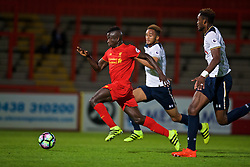 STEVENAGE, ENGLAND - Monday, September 19, 2016: Liverpool's Toni Gomes in action against Tottenham Hotspur during the FA Premier League 2 Under-23 match at Broadhall. (Pic by David Rawcliffe/Propaganda)