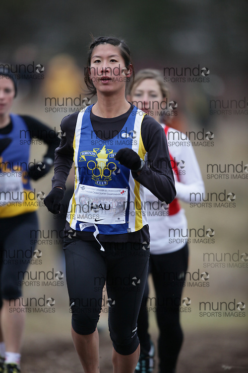 Monica Lau of Toronto Olympic Club runs in the Senior Women's race at the 2009 AGSI Cross Country Championships in Guelph, Ontario, November 28, 2009..GEOFF ROBINS/ Mundo Sport Images
