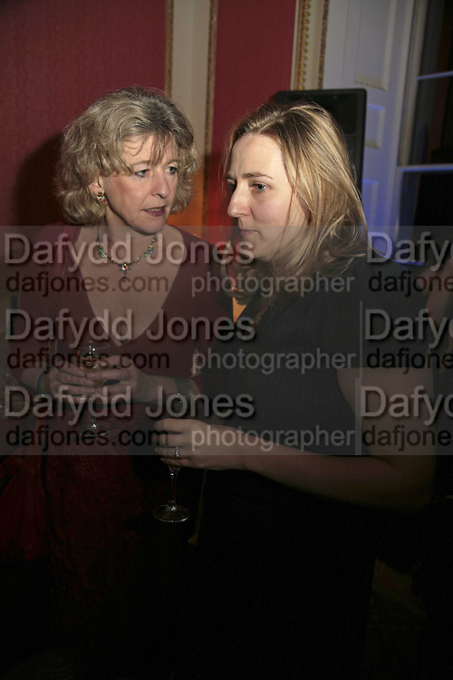 DEBORAH MOGGANCH AND SUSIE BOYT, Literary Review's Bad Sex In Fiction Prize.  In &amp; Out Club (The Naval &amp; Military Club), 4 St James's Square, London, SW1, 29 November 2006. <br />Ceremony honouring author who writes about sex in a 'redundant, perfunctory, unconvincing and embarrassing way'. ONE TIME USE ONLY - DO NOT ARCHIVE  &copy; Copyright Photograph by Dafydd Jones 248 CLAPHAM PARK RD. LONDON SW90PZ.  Tel 020 7733 0108 www.dafjones.com