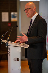 Pictured: John Swinney<br /><br />Education Secretary, John Swinney, MSP, addressed more than 100 teachers and education leaders, as he provided an update on the terms of reference for a review of the curriculum, in a speech marking five years of the Scottish Attainment Challenge.<br /><br />Ger Harley | EEm 26 February 2020