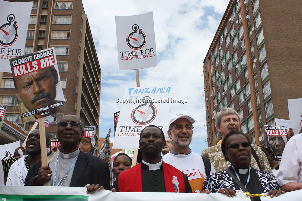 Global Day of Action Match that started at the Durban Christian Centre via the Durban International Convention Centre and ended at the beach, 3 Dec 2011