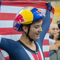 03-03-2018: Wielrennen: WK Baan: Apeldoorn<br />Chloe Dygert wint de finale individuele achtervolging in in wereldrecord tijd