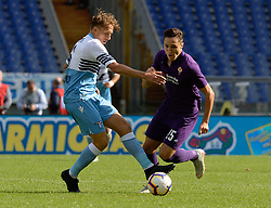 October 7, 2018 - Rome, Italy - Federico Chiesa and Luca Leiva during the Italian Serie A football match between S.S. Lazio and Fiorentina at the Olympic Stadium in Rome, on october 07, 2018. (Credit Image: © Silvia Lore/NurPhoto/ZUMA Press)