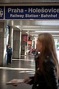 Der Bahnhof in Prag Holesovice.