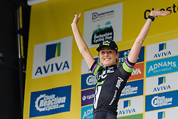Floortje Mackaij (Liv Plantur) retains the best young rider jersey after Aviva Women's Tour 2016 - Stage 3. A 109.6 km road race from Ashbourne to Chesterfield, UK on June 17th 2016.