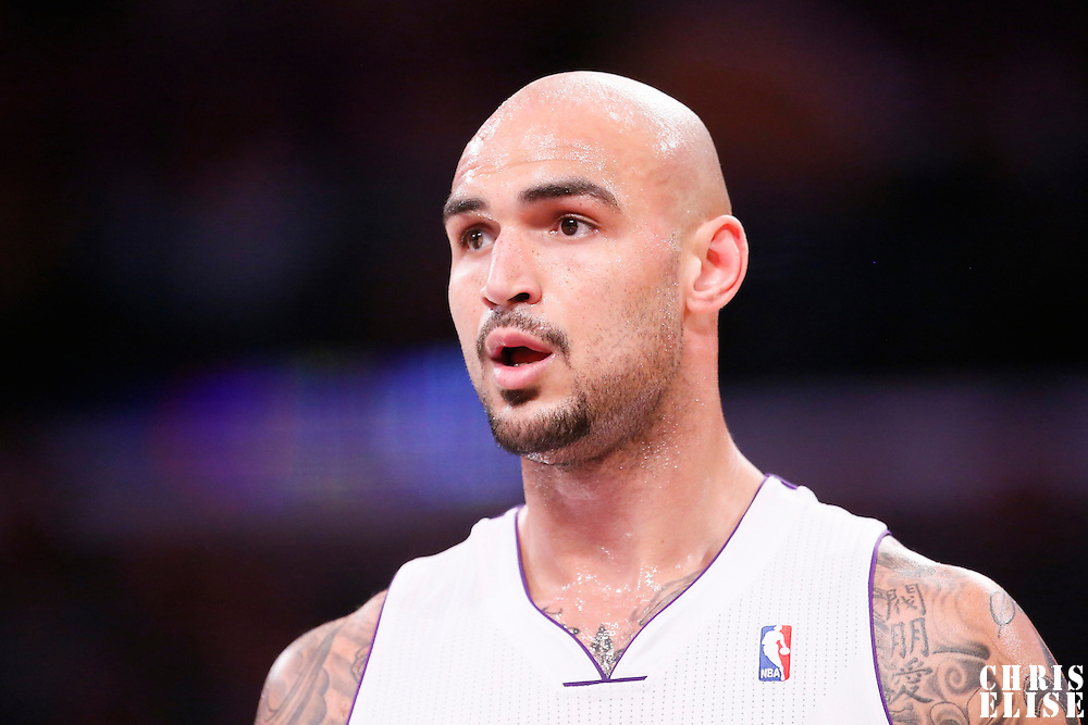 05 January 2014: Los Angeles Lakers center Robert Sacre (50) is seen during the Denver Nuggets 137-115 victory over the Los Angeles Lakers at the Staples Center, Los Angeles, California, USA.