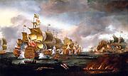 The Battle of Lowestoft, 3 June 1665 - Engagement between the English and Dutch Fleets by Adriaen Van Diest