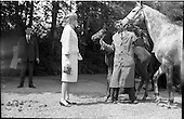 1961 - Princess Grace and Prince Rainier visit the National Stud, Kildare.