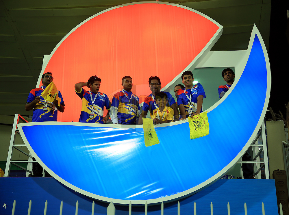 Pepsi VIP Box during match 17 of the Pepsi Indian Premier League 2014 between the Sunrisers Hyderabad and the Chennai Superkings held at the Sharjah Cricket Stadium, Sharjah, United Arab Emirates on the 27th April 2014<br /> <br /> Photo by Sandeep Shetty / IPL / SPORTZPICS