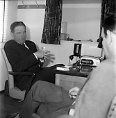 1961 - Mr. Colm Barnes, Glen Abbey Textiles, being interviewed by  Jim Gilbert