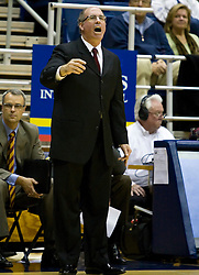 January 9, 2010; Berkeley, CA, USA;  Southern California Trojans head coach Kevin O'Neill during the second half against the California Golden Bears at the Haas Pavilion.  California defeated USC 67-59.