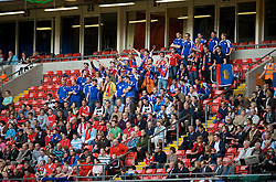 CARDIFF, WALES - Saturday, October 11, 2008: Liechtenstein supporters during the 2010 FIFA World Cup South Africa Qualifying Group 4 match at the Millennium Stadium. (Photo by David Rawcliffe/Propaganda)