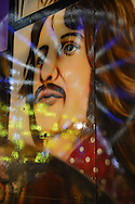 Ferris Wheel lights reflect on illustration of Beatle  Ringo, on front of the Planet Rock & Roll ride, during the first day of the annual Herricks Community Fund Spring Carnival, which raises funds for programs that enrich the community and school district. The Long Island carnival runs through June 2.