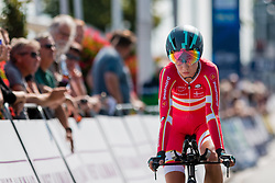 LUDWIG Cecilie Uttrup from DENMARK during Women Elite Time Trial at 2019 UEC European Road Championships, Alkmaar, The Netherlands, 8 August 2019. <br /> <br /> Photo by Pim Nijland / PelotonPhotos.com <br /> <br /> All photos usage must carry mandatory copyright credit (Peloton Photos | Pim Nijland)