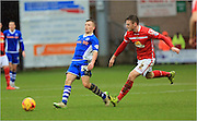 Oliver Turton, Jamie Allen during the Sky Bet League 1 match between Crewe Alexandra and Rochdale at Alexandra Stadium, Crewe, England on 6 February 2016. Photo by Daniel Youngs.