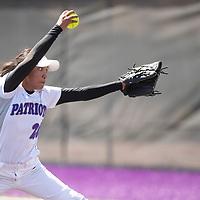 Lakisha Shorty pitching for Miyamura in their game against Shiprock Friday, May 3 at Miyamura High School in Gallup.