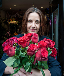 Scottish Labour leader Kezia Dugdale visits Rowan Flowers in Edinburgh as part of Labour's campaign push in Edinburgh East.<br /> <br /> © Dave Johnston/ EEm