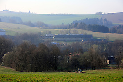 CZECH REPUBLIC VYSOCINA NEDVEZI 11APR09 - General view of the valley of Nedvezi, Vysocina, Czech Republic. The 'forestification' of disused agricultural land is sponsored by funds from the European Union and many villagers participate in the planting of pine trees during the Easter weekend...jre/Photo by Jiri Rezac..© Jiri Rezac 2009