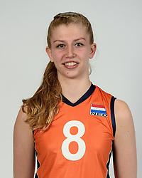 13-05-2014 NED: Selectie Nederlands volleybal team mannen, Arnhem<br /> Op Papendal werd het Nederlands team volleybal seizoen 2014-2015 gepresenteerd / Britt Schreurs