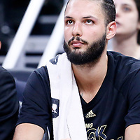 25 February 2017: Orlando Magic guard Evan Fournier (10) is seen on the bench during the Orlando Magic 105-86 victory over the Atlanta Hawks, at the Amway Center, Orlando, Florida, USA.