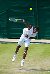 LONDON, ENGLAND - Wednesday, June 23, 2010: Gael Monfils (FRA) during the Gentlemen's Singles 2nd Round on day three of the Wimbledon Lawn Tennis Championships at the All England Lawn Tennis and Croquet Club. (Pic by David Rawcliffe/Propaganda)