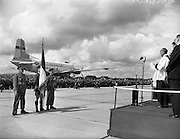 17/08/1960<br /> 08/17/1960<br /> 17 August 1960<br /> Airlift of the 33rd Battalion to the Congo. Picture shows Acting head Chaplain Rev. P. Duffy blessing the troops at Baldonnel airport before their departure on UN service.