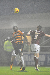 Barnets John Akinde Northampton Town v Barnet FC, Sixfields Stadium, Sky Bet League Two, Saturday 2nd January 2016, Score 3-0 (Hoskins,Holmes, Richards)