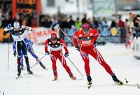 Renato Pasini (ITA), Johan Kjoelstad (NOR) und Ola Vigen Hattestad (NOR) beim Zieleinlauf. © Werner Schaerer/EQ Images