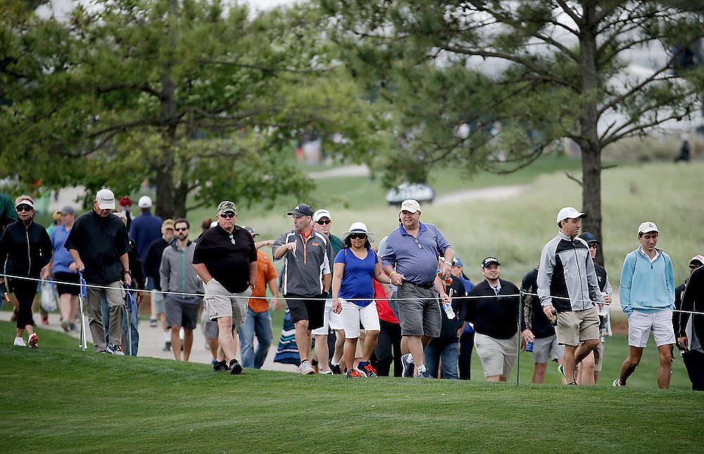 People make their way from the 9th hole to the 10th during the second round of the Shell Houston Open golf tournament at the Golf Club of Houston on , Friday, April 1, 2016, in Humble, Texas.  (Photo: Thomas B. Shea/For the Chronicle)