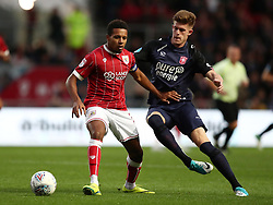 Korey Smith of Bristol City holds off Marko Kvasina of FC Twente - Mandatory by-line: Gary Day/JMP - 28/07/2017 - FOOTBALL - Ashton Gate Stadium - Bristol, England - Bristol City v FC Twente - Pre-season friendly