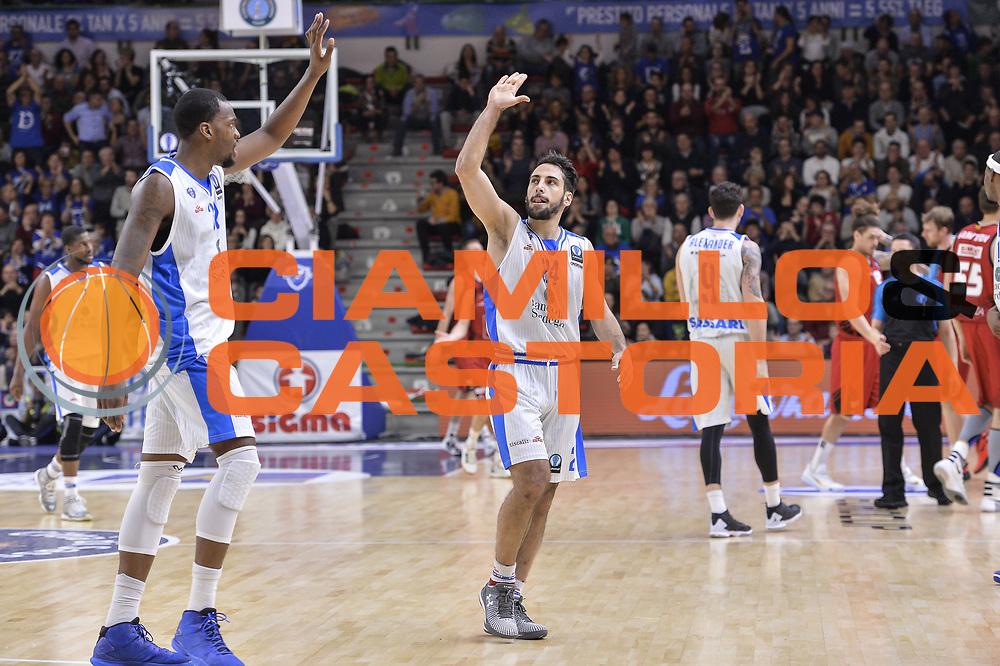 DESCRIZIONE : Eurocup 2015-2016 Last 32 Group N Dinamo Banco di Sardegna Sassari - Cai Zaragoza<br /> GIOCATORE : Jarvis Varnado Rok Stipcevic<br /> CATEGORIA : Fair Play Ritratto Esultanza<br /> SQUADRA : Dinamo Banco di Sardegna Sassari<br /> EVENTO : Eurocup 2015-2016<br /> GARA : Dinamo Banco di Sardegna Sassari - Cai Zaragoza<br /> DATA : 27/01/2016<br /> SPORT : Pallacanestro <br /> AUTORE : Agenzia Ciamillo-Castoria/L.Canu