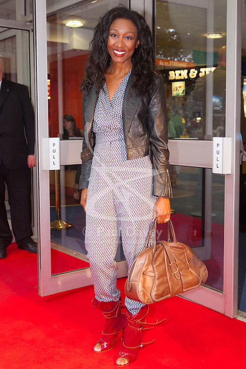 Odeon West End, London, June 16th 2014. Beverley Knight on the red carpet at the Odeon West End in Leicester Square, London, for the gala Screening of Clint Eastwood's big screen version of the Tony Award winning musical Jersey Boys.