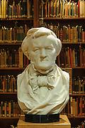 Reuter-Wagner-Museum Wagner Büste, Bibliothek, Eisenach, Thüringen, Deutschland | Reuter-Wagner-Museum bust, library, Eisenach, Thuringia, Germany