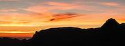 Aussicht von Glecksteinhütte auf Wildgärst am Abend