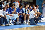 ATENE,  27 AGOSTO 2004<br /> OLIMPIADI ATENE 2004<br /> BASKET, SEMIFINALE<br /> ITALIA - LITUANIA<br /> NELLA FOTO: CARLO RECALCATI<br /> FOTO CIAMILLO