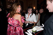 HEATHER KERZNER; MARIE HELVIN, Dinner to mark 50 years with Vogue for David Bailey, hosted by Alexandra Shulman. Claridge's. London. 11 May 2010 *** Local Caption *** -DO NOT ARCHIVE-© Copyright Photograph by Dafydd Jones. 248 Clapham Rd. London SW9 0PZ. Tel 0207 820 0771. www.dafjones.com.<br /> HEATHER KERZNER; MARIE HELVIN, Dinner to mark 50 years with Vogue for David Bailey, hosted by Alexandra Shulman. Claridge's. London. 11 May 2010