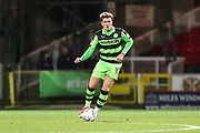 Forest Green Rovers Charlie Cooper(15) on the ball during the EFL Trophy match between Swindon Town and Forest Green Rovers at the County Ground, Swindon, England on 5 December 2017. Photo by Shane Healey.