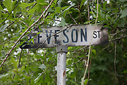 Leveson Street sign;  Abita Springs, Louisiana; April 2017