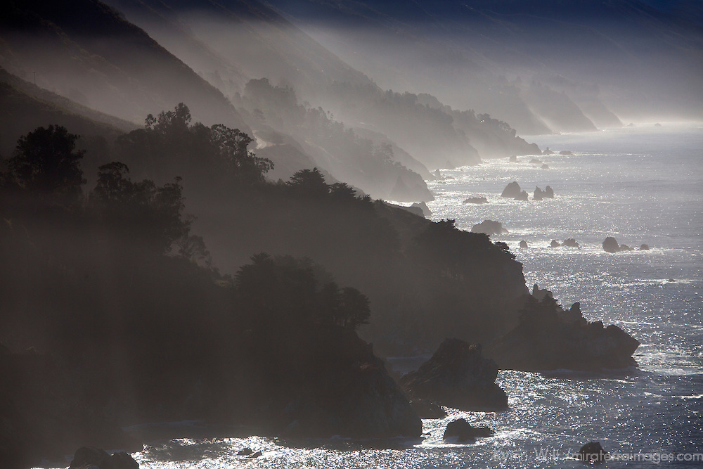 USA, California. Coastal Big Sur from Pacific Coast Highway 1.