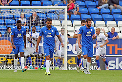 Kyle Vassell of Peterborough United cuts a dejected figure after Gillingham score the first goal of the game - Mandatory byline: Joe Dent/JMP - 07966386802 - 29/08/2015 - FOOTBALL - ABAX Stadium -Peterborough,England - Peterborough United v Gillingham - Sky Bet League One