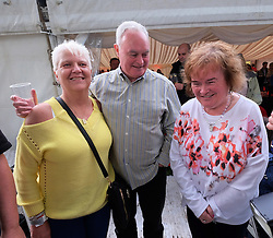 Party At The Palace, Linlithgow, Scotland, Saturday 13th August 2016<br /> <br /> Susan Boyle made an appearance with her brother Gerry and posed for pictures with fans<br /> <br /> (c) Alex Todd | Edinburgh Elite media