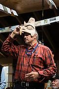 World-renowned Haida artist Jim Hart in his home/studio in Old Masset, Haida Gwaii.