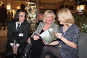 JONATHAN SUTCLIFFE; HELEN SUTCLIFFE; JULIA BOURDON-SMITH, Charity Gala Reception in aid of the Neuroblastoma Society, Bada Antiques and Fine art Fair. Duke of York Sq.  Sloane Sq. London. 19 March 2014.